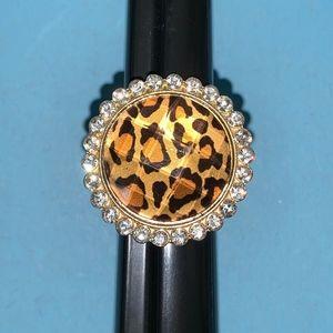 Cheetah Animal print cocktail ring